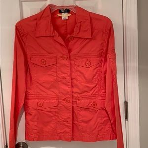 JCrew military utility jacket in coral
